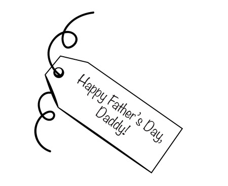 dada: Happy Fathers Day Daddy Tag Illustration