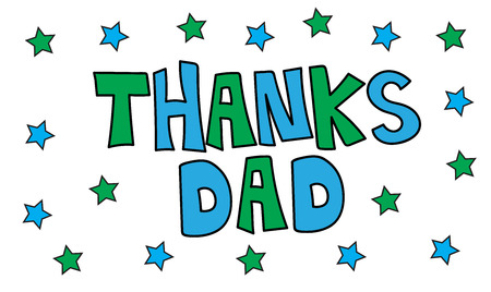 dada: Thanks Dad with Stars Illustration