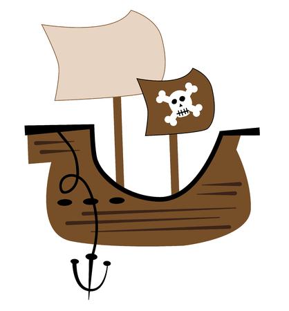 海賊船  イラスト・ベクター素材