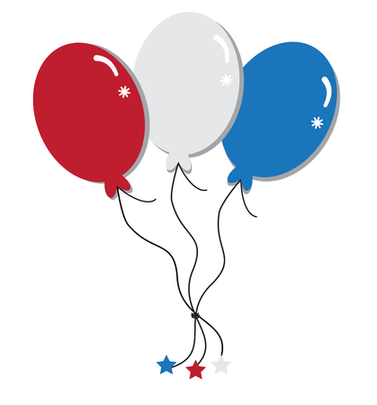 red balloons: Red White and Blue Balloons