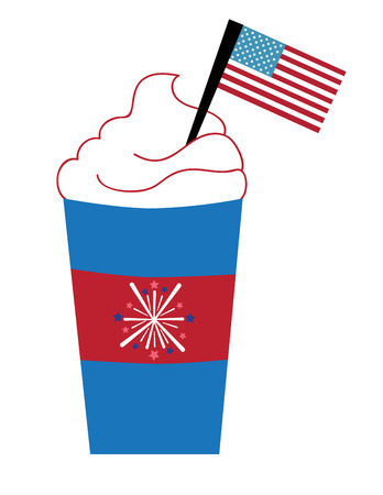 hot coffees: Red White and Blue Coffee