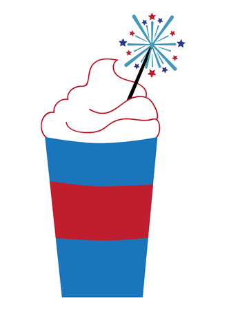 hot coffees: Coffee with Firework Illustration