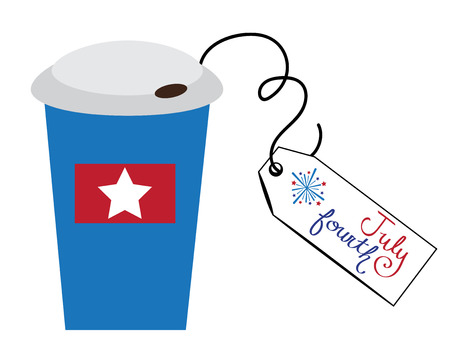fourth july: July Fourth To Go Coffee