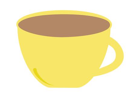 Gele koffie mok  Stockfoto - 60160206