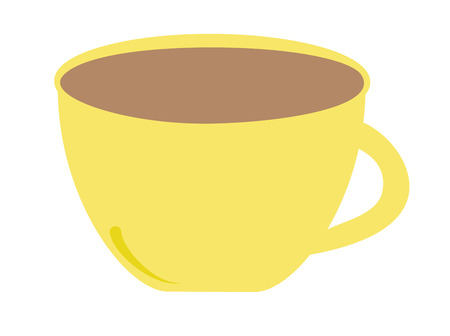 Yellow Coffee Mug 向量圖像
