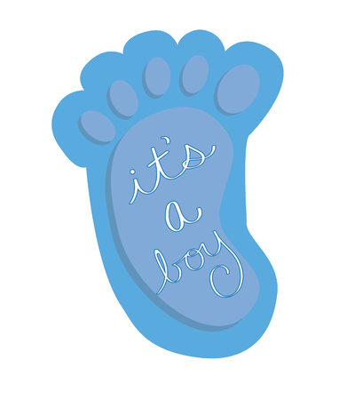 its a boy: Its a Boy Blue Baby Foot
