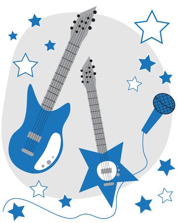 rockstar: Blue Guitars