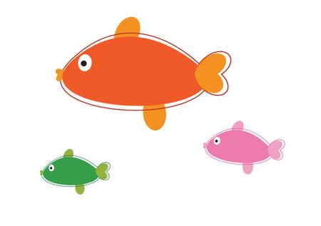 school of fish: Fish Illustration