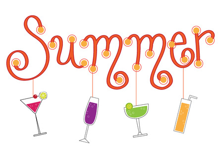 Summer Drinks Illustration