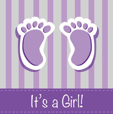little girl feet: Its a Girl Feet Illustration