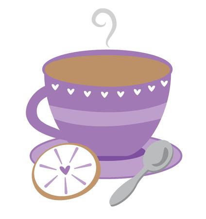 Purple Tea Cup Illustration