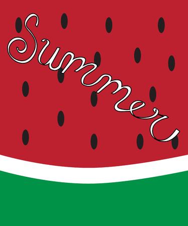 summer diet: Summer Watermelon Illustration