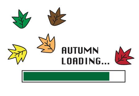 Autumn Loading Illustration