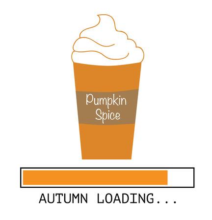 Pumpkin Spice Coffee Иллюстрация