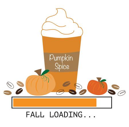 Pumpkin Coffee Vettoriali