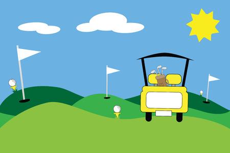 Scene Golf Giallo Vettoriali