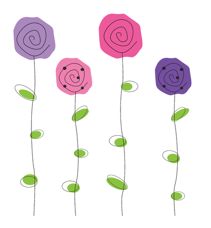 girlie: Purple and Pink Flowers