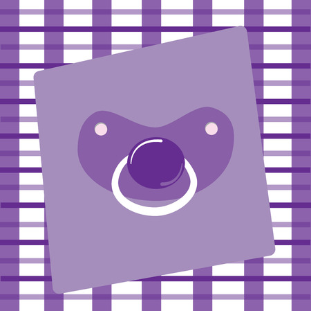 Purple Pacifier Illustration