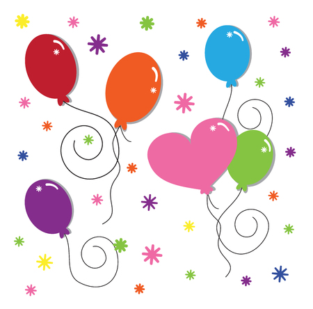 party: Party Balloons Illustration
