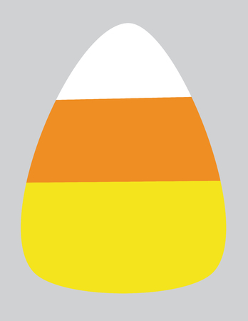 Isolated Candy Corn Illustration