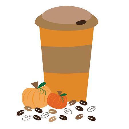 カボチャのコーヒー 写真素材 - 62279199