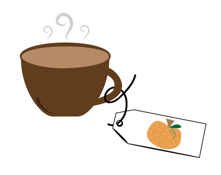 nonalcoholic: Pumpkin Coffee Illustration