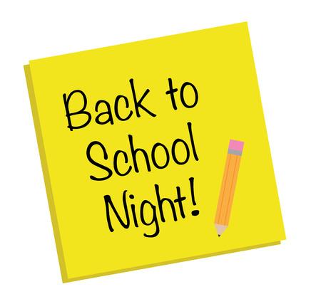 night school: Back to School Night Note