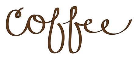 Coffee Lettering Ilustracja