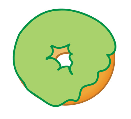frosted: Green Frosted Donut