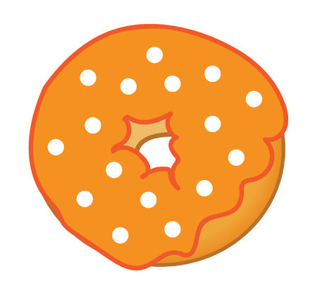 frosted: Orange Frosted Donut