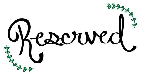reserved: Reserved Sign Illustration
