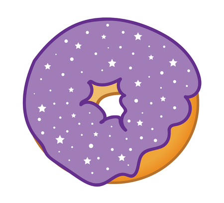 frosted: Purple Sprinkles Frosted Donut