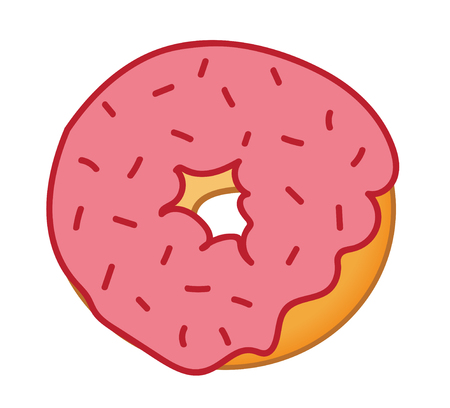 frosted: Red Sprinkles Frosted Donut