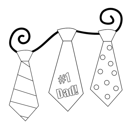 dada: Fathers Day Ties Coloring Page