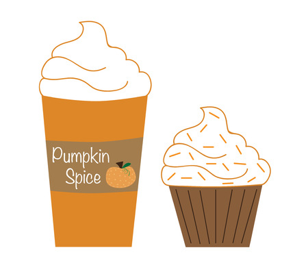 spice: Pumpkin Spice Coffee and Cupcake