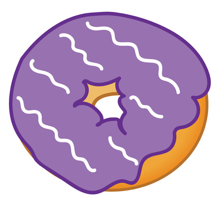 frosted: Purple Frosted Donut