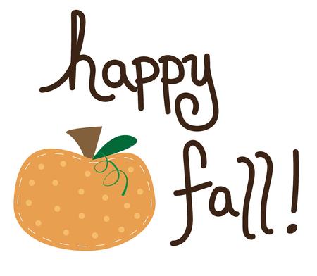happy: Happy Fall Illustration