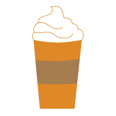 Pumpkin Spice Coffee To Go Illustration
