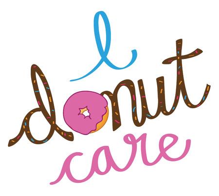 I Donut Care Illustration