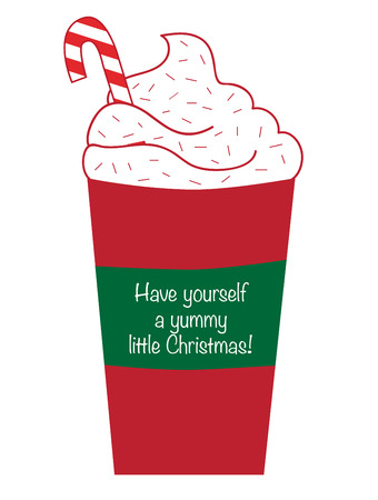 yummy: Yummy Christmas Coffee Illustration