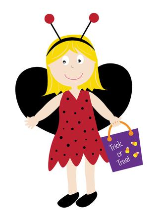 loot: Ladybug Costume Illustration