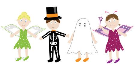Halloween Costumes Ilustracja