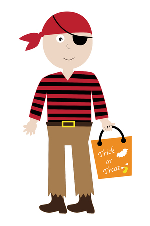 costume eye patch: Pirate Costume Illustration