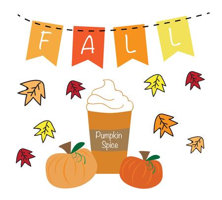 Automne Pumpkin Spice Banque d'images - 63671023