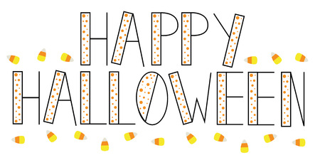 polkadot: Happy Halloween Candy Illustration