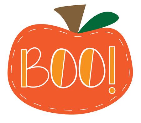 festive occasions: Boo Pumpkin Illustration