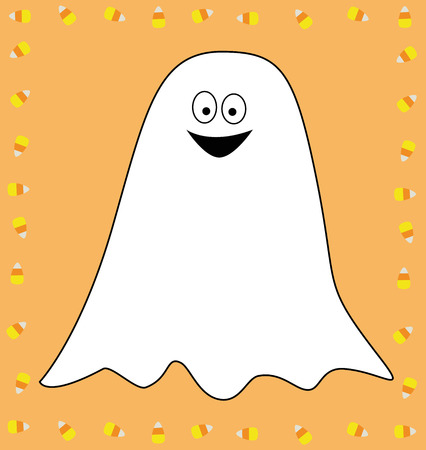 Candy Corn Ghost Illustration