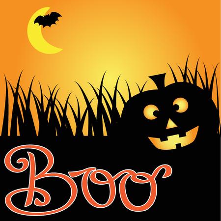 Boo Pumpkin Illustration