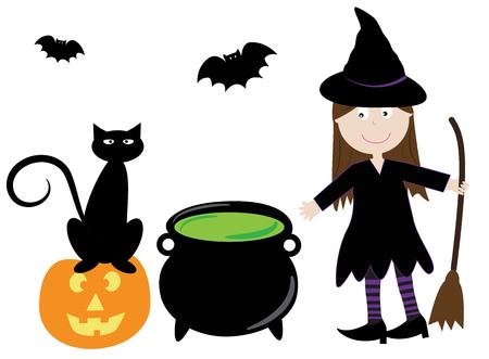 stirring: Witch Illustration