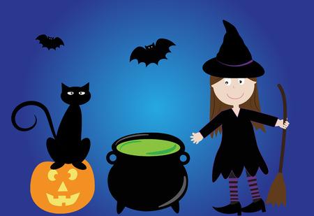 Happy Halloween Witch 向量圖像